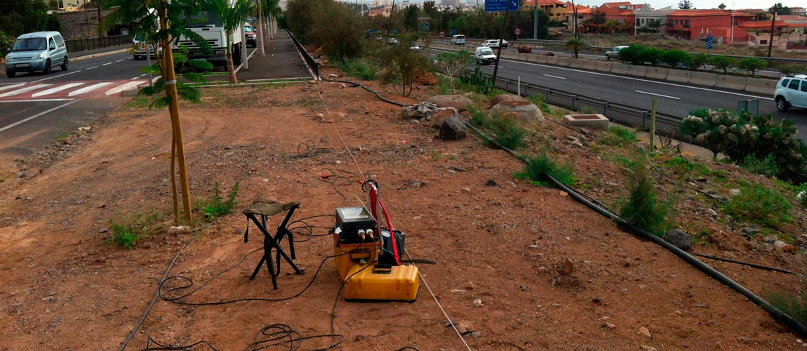 Geotechnical study (MASW) in Tenerife